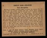 1941 Gum Inc. Uncle Sam Home Defense #5   Gas Discipline Back Thumbnail