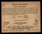 1941 Gum Inc. Uncle Sam Home Defense #19   Knots And Hitches Back Thumbnail