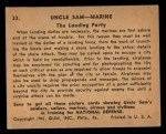 1941 Gum Inc. Uncle Sam Home Defense #33   The Landing Party Back Thumbnail