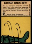 1966 Topps Batman Blue Bat Puzzle Back #40 PUZ  Batman Bails Out! Back Thumbnail