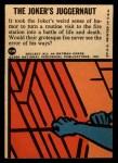 1966 Topps Batman Blue Bat Puzzle Back #23 PUZ  The Joker's Juggernaut Back Thumbnail
