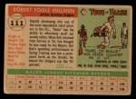 1955 Topps #111  Bob Milliken  Back Thumbnail