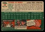 1954 Topps #49  Ray Murray  Back Thumbnail