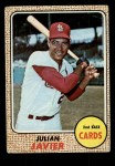 1968 Topps #25  Julian Javier  Front Thumbnail