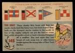 1955 Topps Rails & Sails #145   Anne Morgan Back Thumbnail