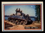 1953 Topps Fighting Marines #4   Riding The Tank Front Thumbnail