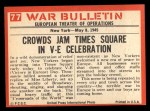 1965 Philadelphia War Bulletin #77   Tears of Joy Back Thumbnail