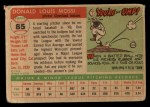 1955 Topps #85  Don Mossi  Back Thumbnail