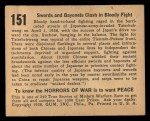 1938 Gum Inc. Horrors of War #151   Swords and Bayonets Clash in Bloody Fight Back Thumbnail