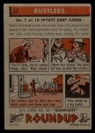 1956 Topps Round Up #37   -  Wyatt Earp Rustlers Back Thumbnail