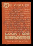 1952 Topps Look 'N See #54  Buffalo Bill  Back Thumbnail