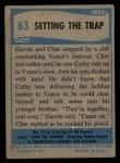 1956 Topps / Bubbles Inc Elvis Presley #63   Setting the Trap Back Thumbnail