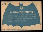 1966 Topps Batman Blue Bat Back #27 BLU  Pasting the Painter Back Thumbnail