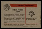 1953 Bowman Firefighters #34   Modern Pumping Engine - Managua Back Thumbnail