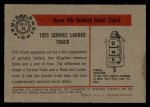 1953 Bowman Firefighters #35   1923 Service Ladder Truck Back Thumbnail