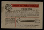 1953 Bowman Firefighters #26   1916 Fire Patrol Back Thumbnail