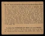 1938 Gum Inc. Horrors of War #35   Anti-aircraft Guns Blaze as Japs Bomb Power Plant Back Thumbnail