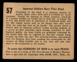 1938 Gum Inc. Horrors of War #57   Japanese Soldiers Burn Their Dead Back Thumbnail