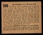 1938 Gum Inc. Horrors of War #200   Japs Recapture Lini in Revenge Drive Back Thumbnail