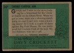 1956 Topps Davy Crockett #34 GRN  Taking Careful Aim  Back Thumbnail
