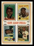 1974 Topps #3   -  Hank Aaron Special 1958-61 Front Thumbnail
