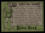 1957 Topps Robin Hood #26   Suspecting Trouble Back Thumbnail