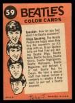 1964 Topps Beatles Color #59   John, Paul and Ringo Back Thumbnail