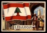 1956 Topps Flags of the World #33   Lebanon Front Thumbnail