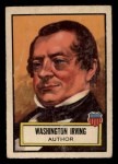 1952 Topps Look 'N See #18  Washington Irving  Front Thumbnail