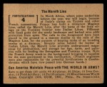 1939 Gum Inc. World In Arms #4 O  The Mareth Line Back Thumbnail