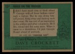 1956 Topps Davy Crockett #15 GRN  Quick on the Trigger  Back Thumbnail