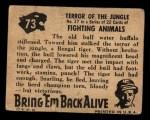 1950 Topps Bring Em Back Alive #73   Terror Of The Jungle Back Thumbnail