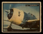 1950 Topps Freedoms War #89   P-47 Thunderbolt   Front Thumbnail