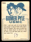 1965 Fleer Gomer Pyle #11   The Sergeant is All for Safety Back Thumbnail