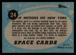 1957 Topps Space Cards #24   If Meteor Hit New York Back Thumbnail