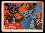 1966 Topps Batman Red Bat #6 RED  Facing the Axe Front Thumbnail