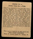 1931 Johnson Candy Dick Tracy #16   Junior is Chloroformed Back Thumbnail