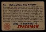1951 Bowman Jets Rockets and Spacemen #96   Making Deno-Ray Adapter Back Thumbnail