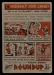 1956 Topps Round Up #16   -  Calamity Jane  Hooray For Jane Back Thumbnail