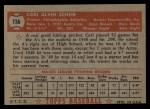 1952 Topps #116  Carl Scheib  Back Thumbnail