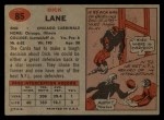 1957 Topps #85  Richard Lane  Back Thumbnail