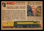 1955 Topps Rails & Sails #18   Steam Locomotive Back Thumbnail