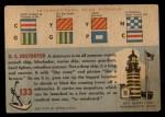 1955 Topps Rails & Sails #133   Destroyer Back Thumbnail