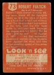 1952 Topps Look 'N See #73  Robert Fulton  Back Thumbnail