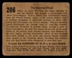 1938 Gum Inc. Horrors of War #206   The Deserted Village Back Thumbnail