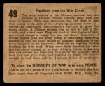 1938 Gum Inc. Horrors of War #49   Fugitives from the War Zones Back Thumbnail