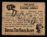1950 Topps Bring Em Back Alive #78   Tiny Killer Back Thumbnail
