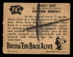 1950 Topps Bring Em Back Alive #74   Deadly Jaws Back Thumbnail