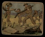 1941 Gum Inc. Uncle Sam Home Defense #50   Barbed Wire Tactics Front Thumbnail