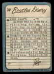 1964 Topps Beatles Diary #36 A Ringo Starr  Back Thumbnail